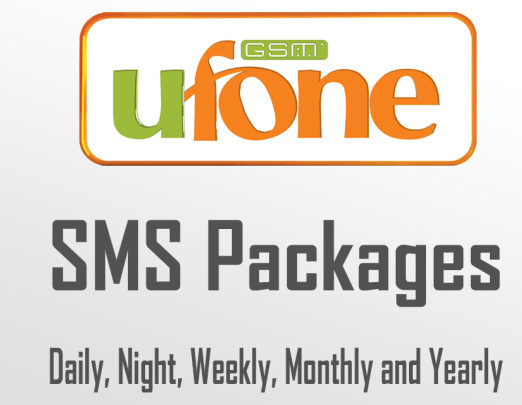 Ufone SMS Packages – Daily, Weekly, Monthly, Yearly