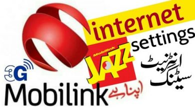 Mobilink Jazz Internet Settings