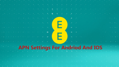 T-Mobile EE APN Settings