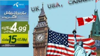 Telenor Offers Best Packages For USA, Canada and UK