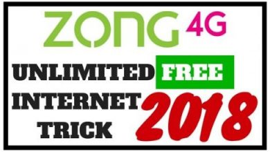 Zong Free Internet Trick For Android Get Unlimited Data 2018
