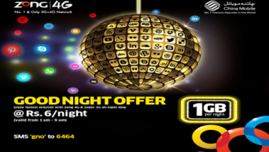 Zong Night Internet Package Zong Goodnight Offer 3G & 4G