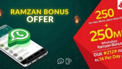 Mobilink Jazz Ramzan Bonus Offer