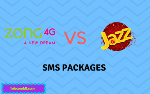 Zong SMS Packages VS Jazz SMS Packages