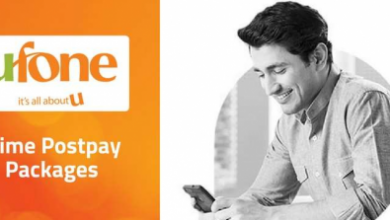 Ufone Prime Postpay Packages 2018