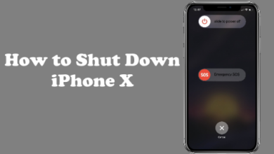How to Shutdown iPhone x