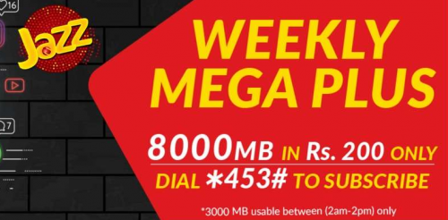 Jazz Weekly Mega Plus Offer 2018