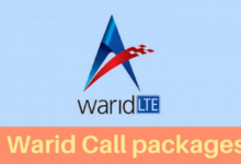 Warid Call 2018 Packages with activation codes