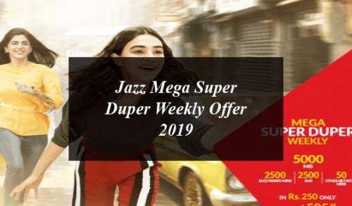 JAZZ MEGA SUPER DUPER WEEKLY OFFER