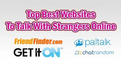 Top Best Websites To Talk To Strangers Online